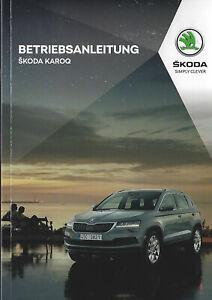 SKODA-KAROQ-Betriebsanleitung-2019-inkl-Infotainment-Handbuch-Bordbuch-BA
