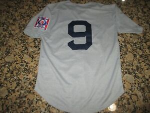 buy online da5c2 bb679 Details about New!! Ted Williams #9 Heavyweight Retro Boston Gray Vintage  Baseball Jersey XXL