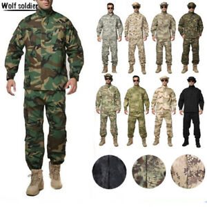 cc569c9be Image is loading Mens-Airsoft-Military-Tactical-Combat-BDU-Uniform-Jacket-