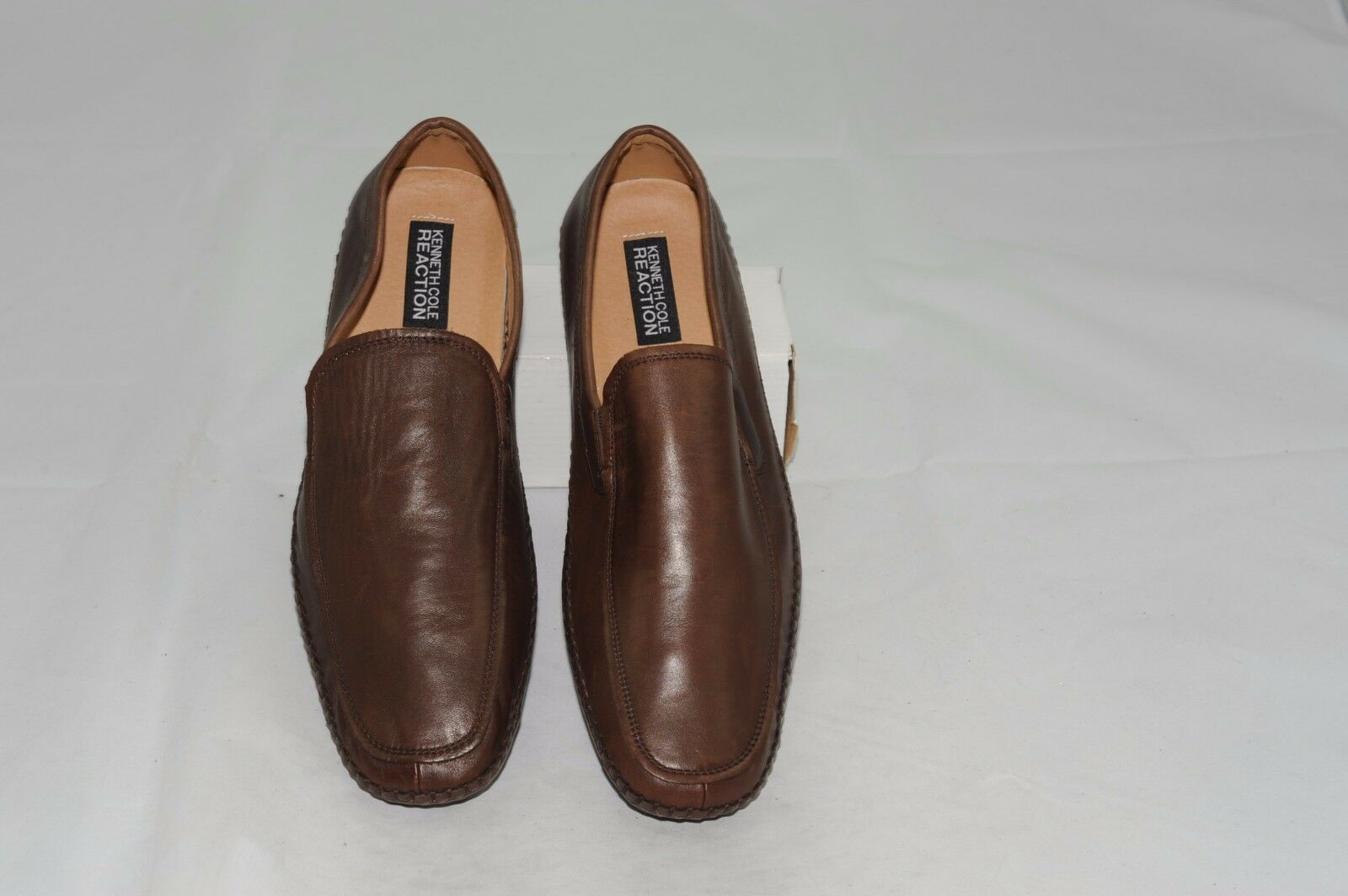 NWT Kenneth Cole Reaction Men's Leather Slip-Ons Loafer Dress shoes 10.5 M