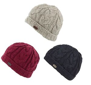 b987043ae Details about Kusan 100% Wool cable knit turn up Beanie hat  (Mens/Ladies/Unisex) (PK1528)