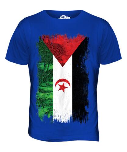 Sahara occidental grunge drapeau t-shirt homme tee top cadeau chemise vêtements jersey