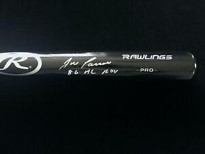 Jose Canseco Signed Autographed 86 AL ROY Black Baseball Bat JSA COA Oakland A's