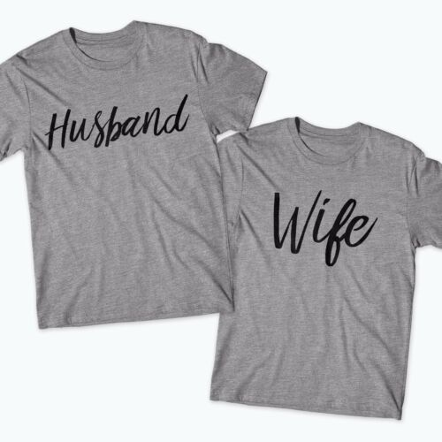Husband Wife TShirts His /& Her Funny Cute Just Married Gift Wedding Valentines