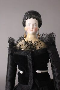 "Sunny Stunning & Rare 21"" China Head Lady Doll Ca.1860s Possibly Comte & Boehme"