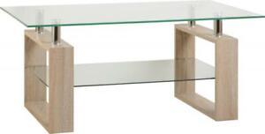 MILANO-tavolino-in-rovere-chiaro-Sonoma-E-VETRO-MODERNO-SALONE-Furniture
