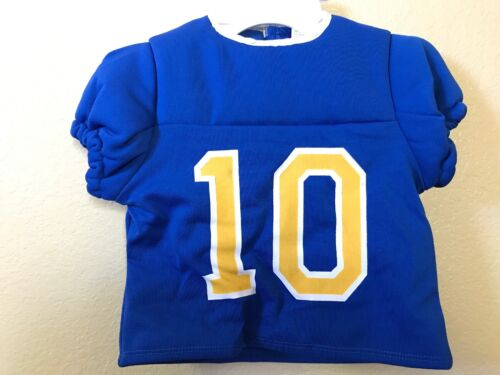 Costume 3pc Lil/' MVP Football Player # 10 Blue Yellow Toddler Boy 3-4 NEW