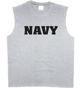 Homme-Sans-Manches-T-shirt-US-Navy-Design-USN-Muscle-Tee-Tank-Top-T-Shirt