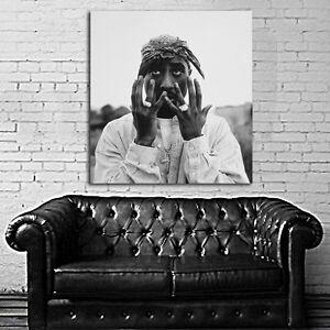 tupac 2pac rap hip hop poster wall mural print on paper tupac wall mural tupac mural picture of la hood life