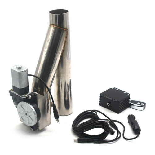 """Remote Kit 2/"""" Motorized Electric Exhaust Downpipe Cutoff Bypass Valve Cutout"""