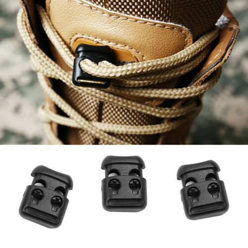 10x Kids Adults Shoe Lace Shoelace Buckle Hot Rope Clamp  Cord Lock Stopper Clip