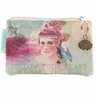 Papaya Art Sun Chaser Coin Purse\small Wallet Vegan Friendly With Tags