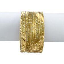24 Pc Vergoldet Armreif Traditionell Ethnisch Hochzeit Armbänder Schmuck 2*6
