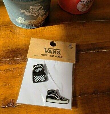 NWT VANS off the wall vans old skool pin pack of two enamel pins Back Pack& Sk8   eBay