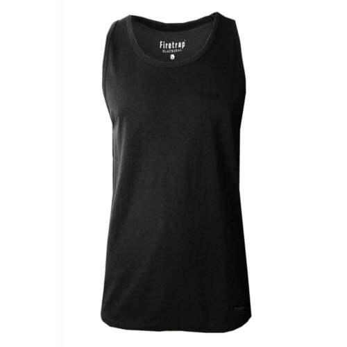 Firetrap Mens New Casco Menomin Skull Designer Blackseal Summer Plain Vests BNWT