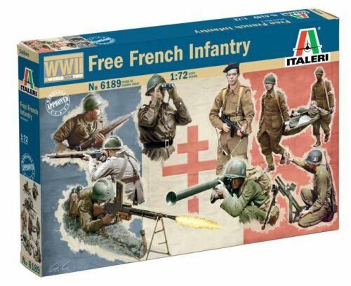 Italeri 1//72 Gratuit Français Infanterie #6189