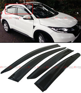 Smoke Tinted Window Visors Deflectors Rain Guards 4p for 2020 Honda HR-V