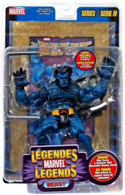 Marvel Legends Series 4 Beast Action Figure [oro Foil Poster Variant]