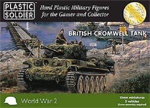 15MM-Britannique-Cromwell-Tank-Plastique-Soldat-Compagnie-WW2