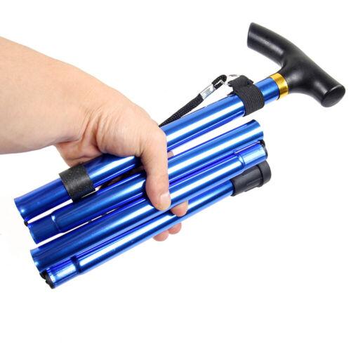 Folding Cane Adjustable Hand Walking Stick Aluminium Portable Telescopic Canes