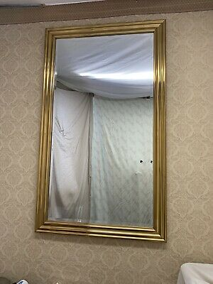 Large Solid Brass Frame Wall Hanging, How To Hang A Large Beveled Mirror