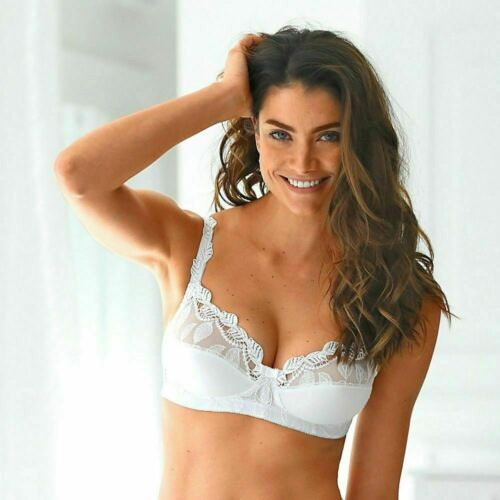 D90Cl Embroidery Non-Padded Wireless Bra H1-2011-Wht FR105C AU18C