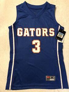 promo code aee12 e150c Details about NWT NIKE Boys Medium Florida Gators Basketball #3 Jersey -  Blue Orange White