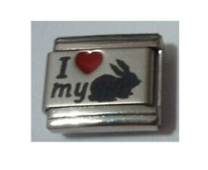 9mm-Italian-Charms-L56-I-Love-My-Bunny-Rabbit-Fits-Classic-Size-Bracelet