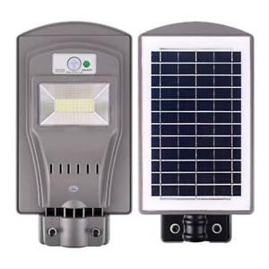 20W//40W//60W LED Solar Powered Wall Street Light PIR Motion Outdoor Garden Lamp
