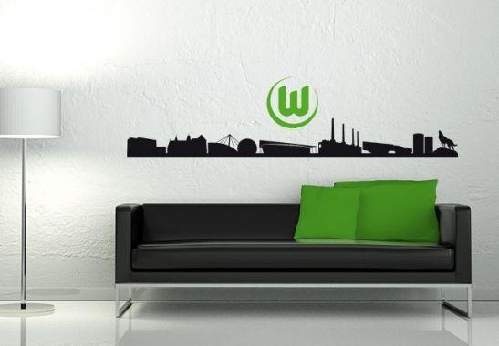 Fußball Bundesliga Bundesliga Bundesliga Skyline + Logo als Wandtattoo diverse Vereine Fanshop Deko 901764