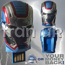 Iron Patriot Iron Man 3 64GB USB 2.0 Memory Stick Flash Pen Drive Storage Marvel