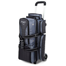 Storm Rolling Thunder 3 Ball Bowling Roller Bag Color Charcoal Plaid/Grey/Black