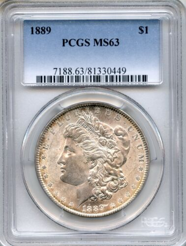 1889 Morgan Silver Dollar PCGS MS63 ~ $1 (81330449)