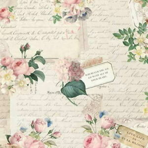 Cottage Shabby Chic Riley Blake Rose & Violet's Garden Party Parchment Fab BTY