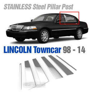 LINCOLN  TOWN CAR  CHROME PILLAR POSTS FITS  1998-2012 6 PIECE SET