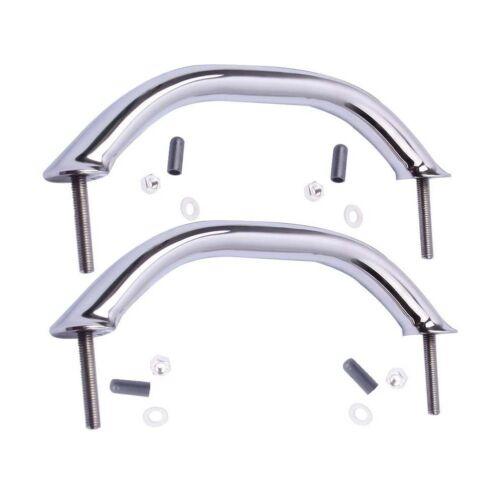 "2X 316 Stainless Steel 9/"" Oval Grab Handle Handrail Boat//Door//Bathroom Polished"