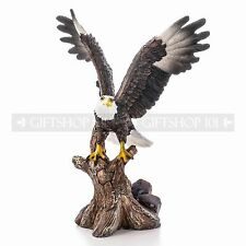 Brave White Bald Eagle from Tree Animal Bird Figurine Statue Home/ Office Decor