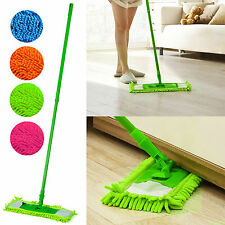 EXTENDABLE MICROFIBRE MOP CLEANER SWEEPER WOOD LAMINATE TILE WET DRY from 1.99
