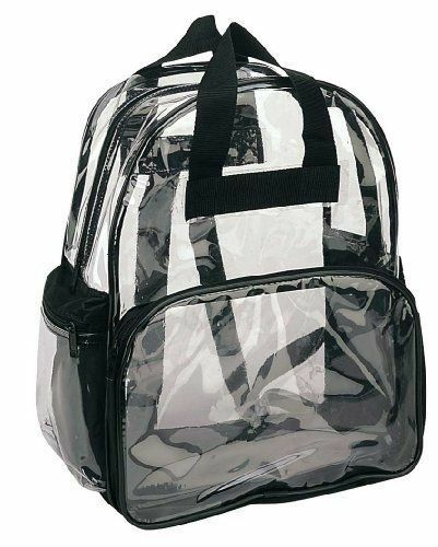 Clear Transparent Backpack Security School Bag Smooth PVC TSA Compliant Travel