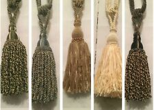 """RED TIEBACK 23/"""" CORD SPREAD 5/"""" TASSEL LOT OF 2 HOLIDAY TRIM CURTAIN CONSO J04"""