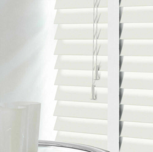 Made To Measure 50mm Slats Faux Wood Venetian Blinds With Matching Tapes