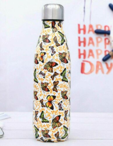 Stainless Steel Water Bottle Double Wall Vacuum Insulated Work Gym Metal Flask