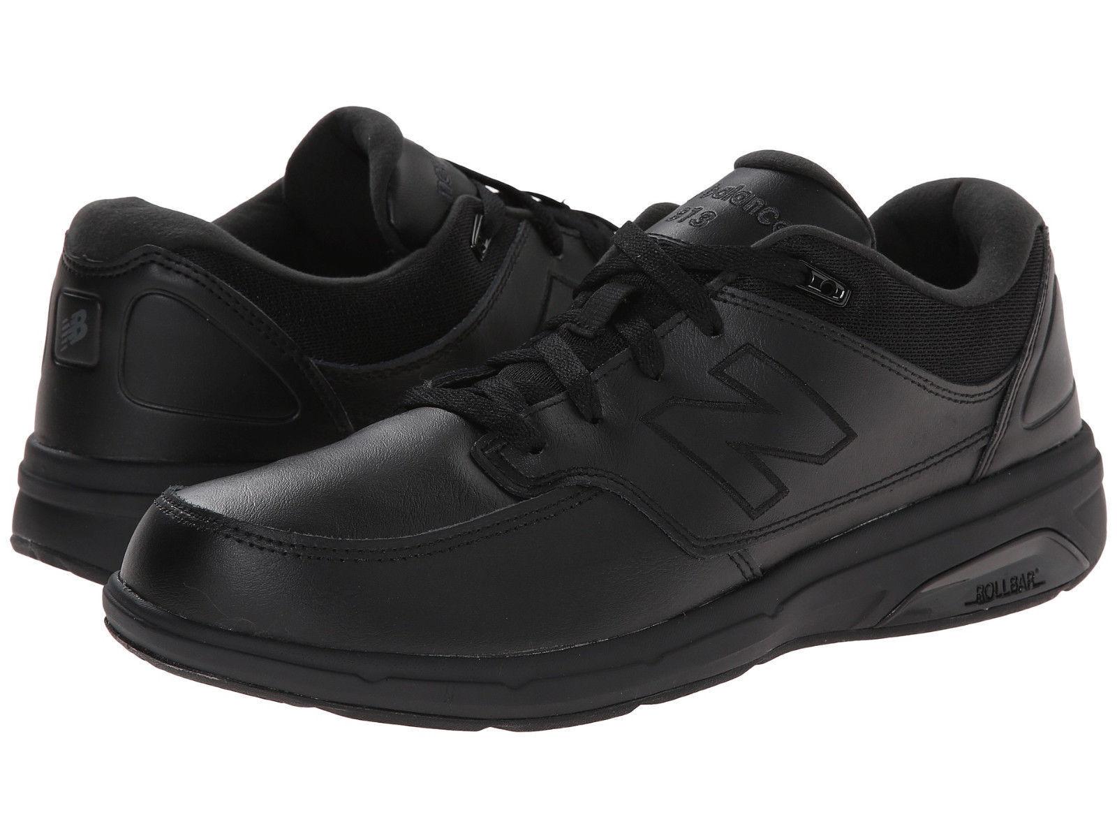 Men New Balance MW813BK Walking Leather (Medium D) Black 100% Original Brand New