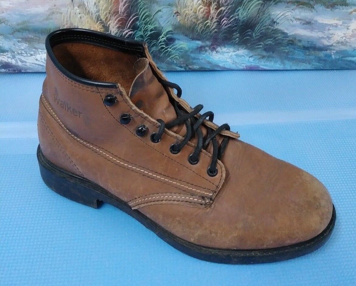 Mens Work Boots  Cushioned Arch  Brown Size 12