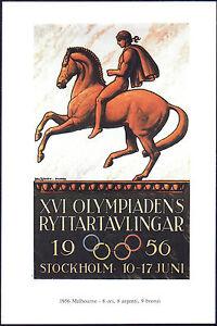 POSTCARD-XVI-GIOCHI-OLIMPICI-OLIMPIADI-OLYMPIC-GAMES-STOCKHOLM-STOCCOLMA-1956