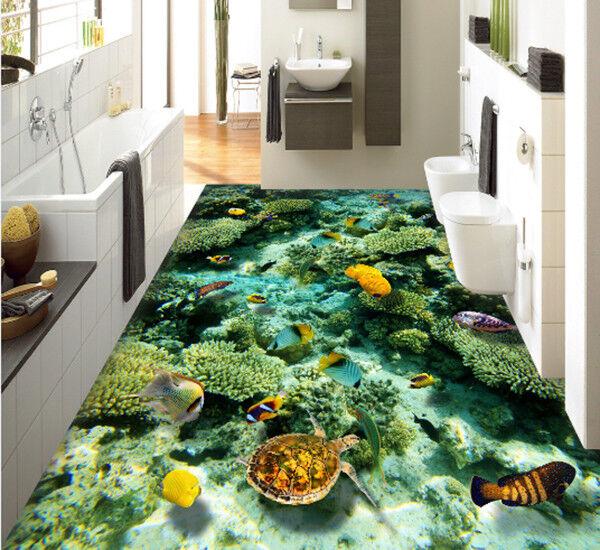 3D Grün Coral 8 7 Floor WallPaper Murals Wall Print Decal AJ WALLPAPER US Carly