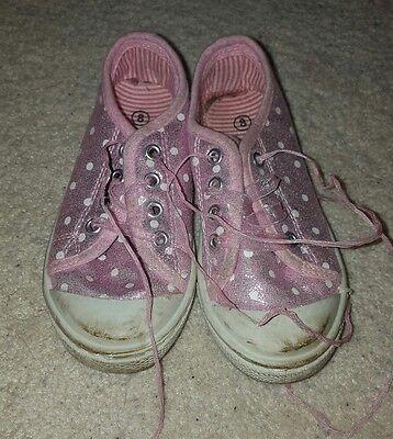 Zapatillas Niñas Rosa Tamaño 8