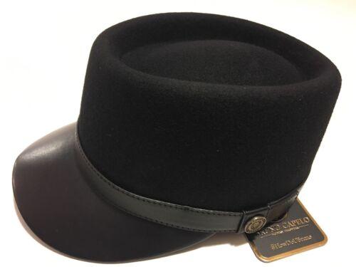 Men/'s Bruno Capelo Telescope Baseball Legionnaire Leather Collection Cap Hat New
