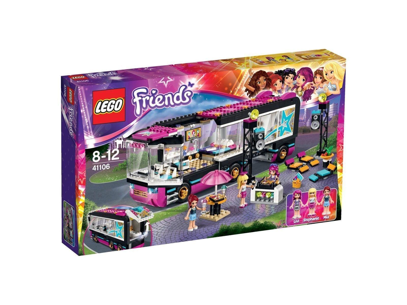 Lego 41103, 41104 41106 Friends Pop Star Tour Bus Dressing Room Recording studio