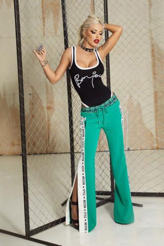By Alina Donna Pantaloni Jogging Pantaloni Gamba A Taglio a Sigaretta Pantaloni Tessuto Pantaloni Trackpants XS-M